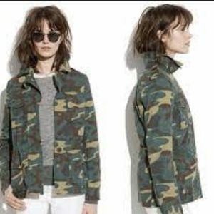 Madewell  Outbound Utility Jacket Camoflauge Small